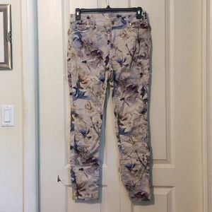 Chico's floral jeggings